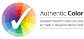 Authentic Color - Benjamin Moore colors can only be made in Benjamin Moore paint.