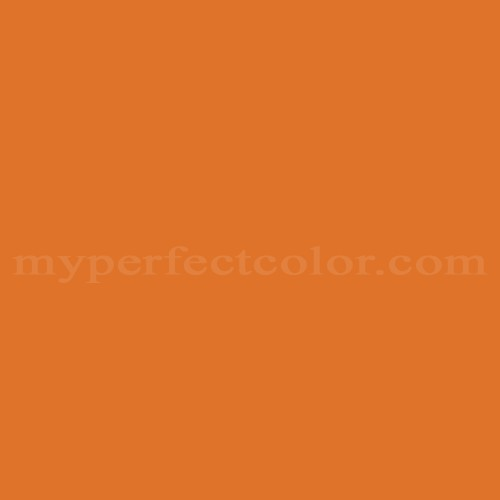 Color Match Of Behr 250b 7 Crushed Orange