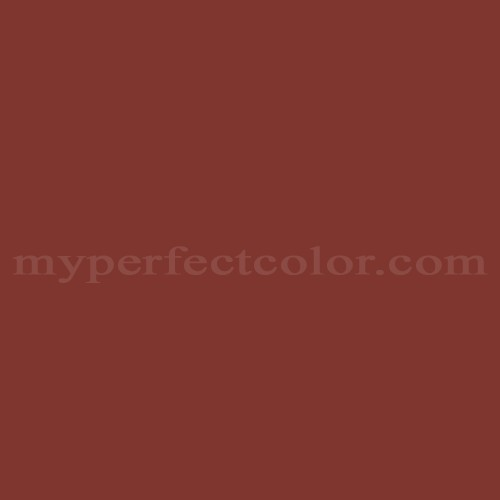 Match of Porter Paints™ 6060-3 Swiss Red *