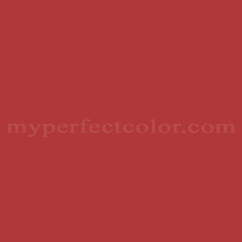 Color Match Of Porter Paints 6072 7 Fire Engine Red