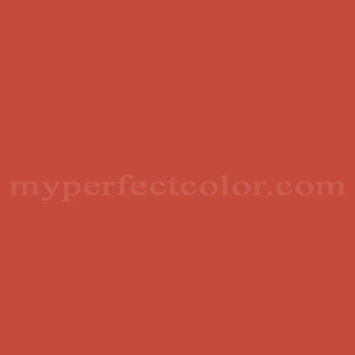 Match of Porter Paints™ 10552-5 Carnival Red *