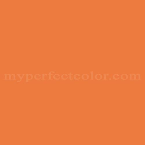Color Match Of Valspar 205a 6 Mandarin Orange