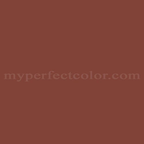 Color Match Of Martin Senour Paints 317 8 Russet Red