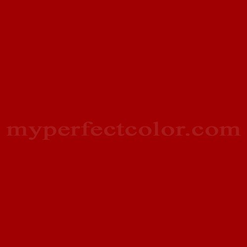 Color Match Of White Knight Paint 5003 Cherry Red