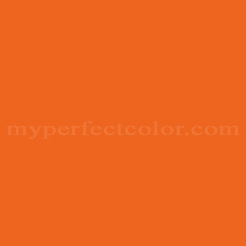 Color Match Of Behr 220b 7 Electric Orange