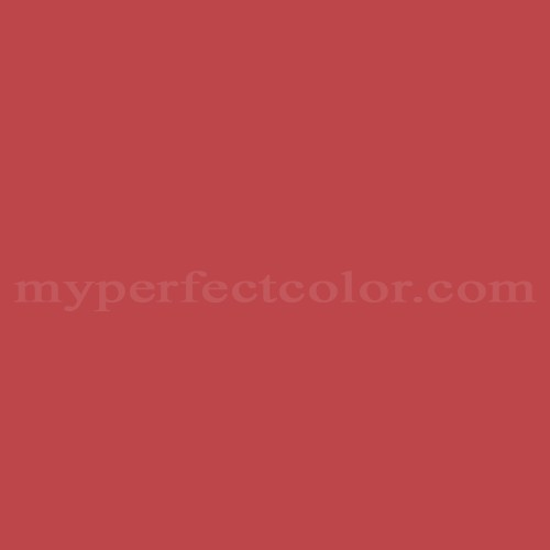Color Match Of Olympic A32 6 Burnt Red