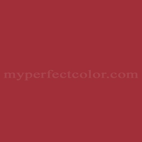 Color Match Of Glidden 98rr12 480 Victorian Red