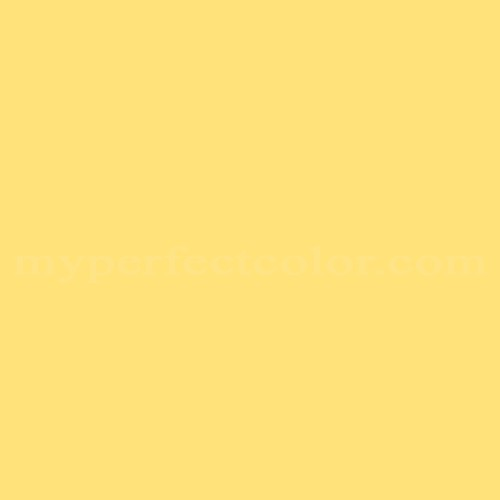 Color match of Cloverdale Paint 7863 Summer Yellow*