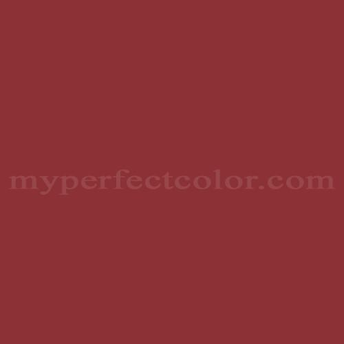 Color Match Of Martha Ms004 Barn Door Red