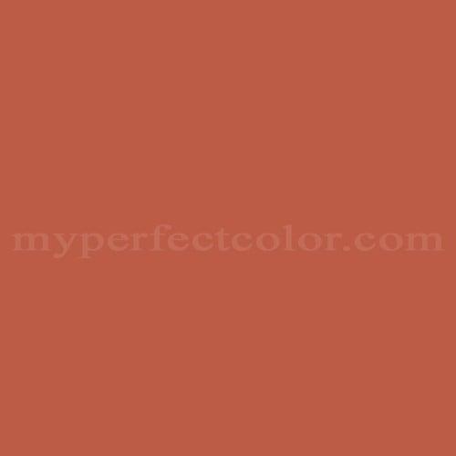 Color Match Of Pantone 18 1447TPX Orange Rust