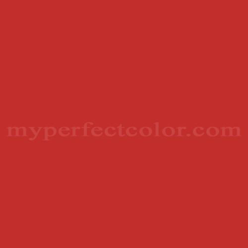 Color Match Of Glidden Glr06 Red Geranium