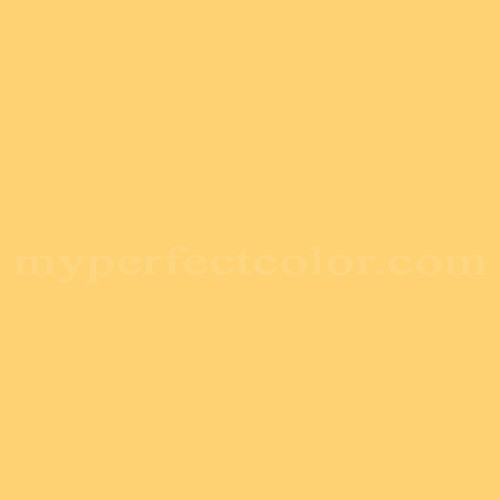 Match of Porter Paints™ 6184-4 King's Yellow *