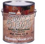 Benjamin Moore™ 422 Stays Clear High Gloss Waterbased Polyurethane - Quart
