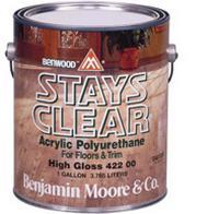 Benjamin Moore™ 422 Stays Clear High Gloss Waterbased Polyurethane - Quart