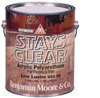 Benjamin Moore™ 423 Stays Clear Low Lustre Waterbased Polyurethane - Quart