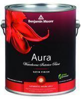 Benjamin Moore™ 526 Aura Waterborne Interior Satin Finish Paint (Quarts, Gallons or Fives)