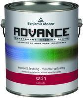 Benjamin Moore™ 792 Advance Waterborne Alkyd Interior Satin Finish Paint (Quarts or Gallons)