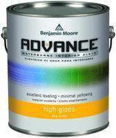 Benjamin Moore™ 794 Advance Waterborne Alkyd Interior High Gloss Finish Paint (Quarts or Gallons)
