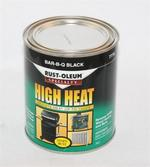 Rust Oleum 7778 High Heat Enamel Bar-Q-Que Paint Black Quart