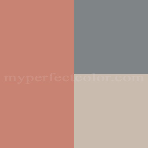 Color Schemes Taupe Orange Ivory: Peaches And Cream With Slate Blue And Light Taupe Scheme